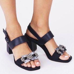 Tory Burch Delaney Embellished Block Heel Sandal